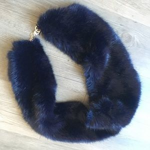 Reiss fur scarf collar